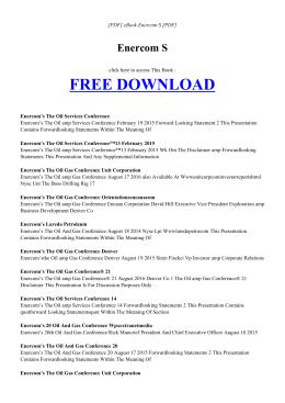 ENERCOM S | Free Ebook