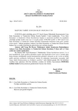 Ankara Adli Yargı İlk Derece Mahkemesi Adalet Komisyonu Ankara