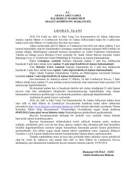 Adana Adli Yargı İlk Derece Mahkemesi Adalet