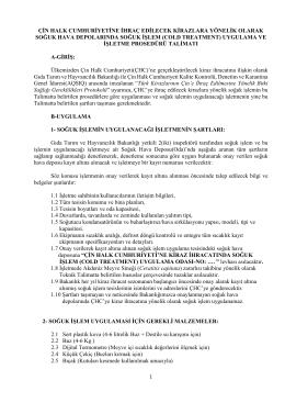cold treatment - TC Gıda Tarım ve Hayvancılık Bakanlığı