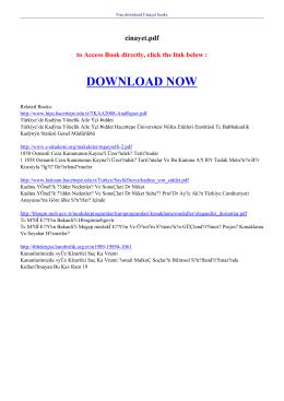 cınayet pdf