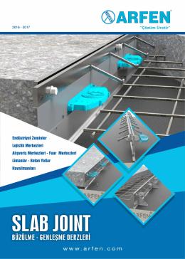 ARFEN Slab Joint Büzülme