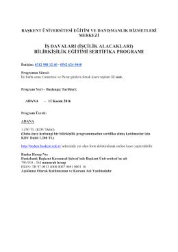 iş davaları (işçilik alacakları) bilirkişilik eğitimi sertifika