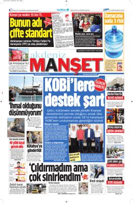 İhmal olduğunu düşünmüyorum - Antalya Haber - Haberler
