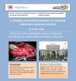 II. İstanbul Üniversitesi İstanbul Tıp Fakültesi Jinekolojik Onkoloji