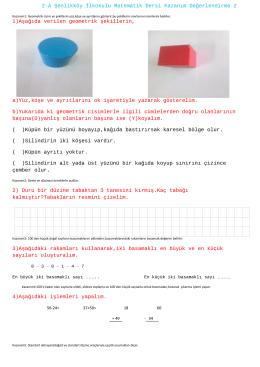 2-A Şenlikköy İlkokulu Matematik Dersi Kazanım