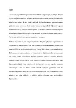Türkiye`de reklam verme kalıpları ve medya türlerine göre