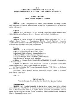 tc türkiye istatistik kurumu başkanlığı nevşehir eğitim ve dinlenme