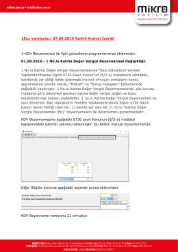 Eylül 2016 Arşiv Güncelleme 09.09.2016