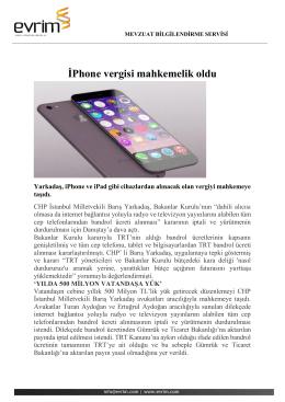 İPhone vergisi mahkemelik oldu