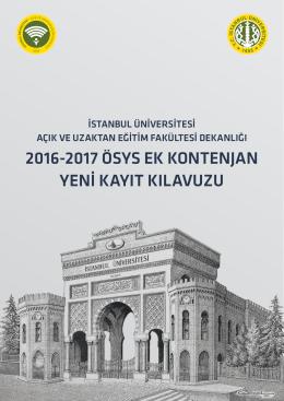 kayıt kılavuzu için tıklayınız - İstanbul Üniversitesi Açık ve Uzaktan