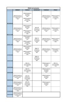 PRAD 2016-2017 Güz Dönemi Ders Programı