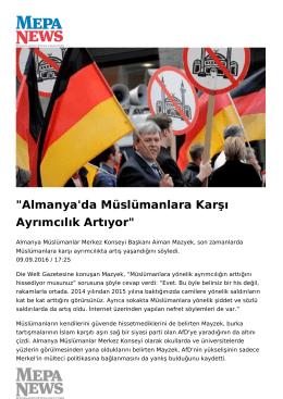 Almanya`da Müslümanlara Karşı Ayrımcılık Artıyor
