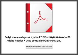 En iyi sonuca ulaşmak için bu PDF Portföyünü Acrobat X, Adobe