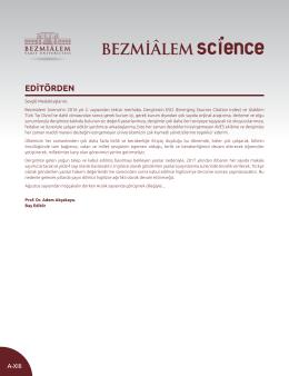 Tam Metin  - Bezmialem Science