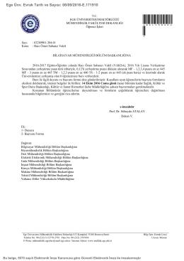 Hacı Ömer Sabancı Vakfı - Ege Üniversitesi Bilgisayar Mühendisliği