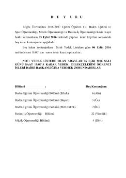 tutanak - Niğde Üniversitesi