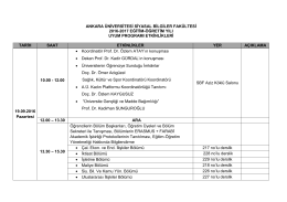 Uyum Programı - Ankara Üniversitesi