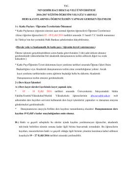 tc nevşehir hacı bektaş veli üniversitesi 2016-2017 eğitim