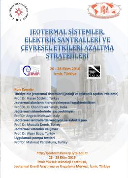 Türkiye`nin jeotermal sistemleri (jeoloji ve tektonik açıdan