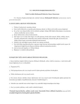 T.C. Houston Başkonsolosluğu personel alım ilanı