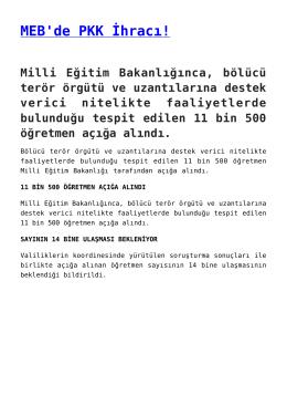 MEB`de PKK İhracı!