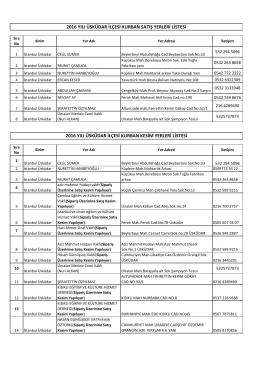 2016 yılı üsküdar ilçesi kurban satış yerleri listesi 2016 yılı üsküdar