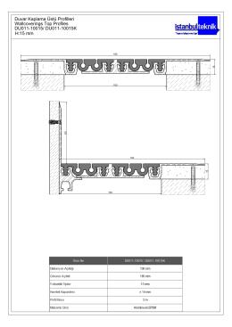 DU011-10015/ DU011-10015K Duvar Kaplama Üstü Profilleri H:15