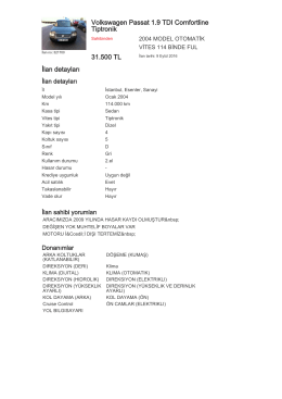 Volkswagen Passat 1.9 TDI Comfortline Tiptronik 31.500 TL İlan