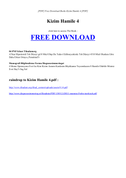KIZIM HAMILE 4 | Free Ebook