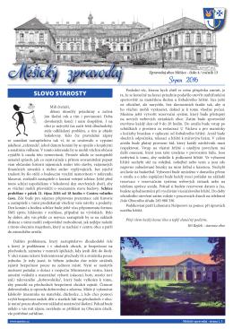 Srpen 2016 - Obec Měšice