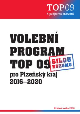Volební program TOP 09 Volím silou rozumu