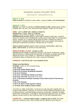 Zamykání sezóny Chrudim 2016 - zpravodaj 26. kaktusářské burzy
