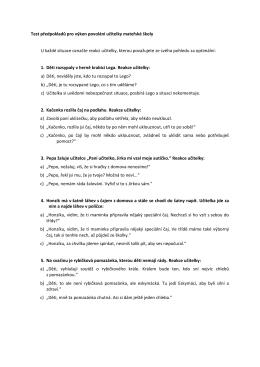 Přijímací zkoušky 2016 - dotazník předpokladů pro výkon profese