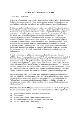 informovaný souhlas pacienta - Neurologie a rehabilitace Brno