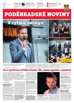 noviny PDF 04.08.2016 Poděbradské noviny, ročník 25, Číslo 15