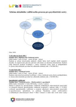Schéma aktuálního vzdělávacího procesu pro psychiatrické sestry