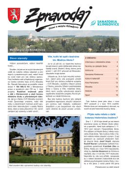 09-2016 - Město Klimkovice