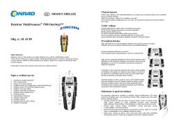 Překlad 814389 - detektor Zircon Multiscanner i700