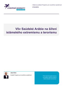 Vliv Saúdské Arábie na šíření islámského extremismu a terorismu