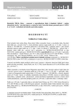 Botanická 10 - změna dokončené stavby, soubor typu pdf - Brno