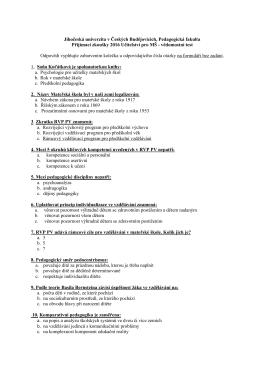Jihočeská univerzita v Českých Budějovicích, Pedagogická fakulta