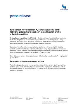 Press release - Novo Nordisk Česká republika