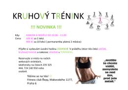kruhový trénink - Fitness club Řepy
