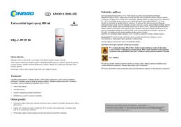 Univerzální lepící sprej 400 ml Obj. č. 89 05 86