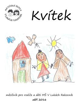 měsíčník pro rodiče a děti MŠ V Lukách Rakovník září 2016