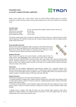 Uživatelský návod na montáž a zapojení LED pásku
