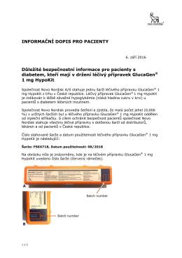 Dopis pro pacienty - Novo Nordisk Česká republika