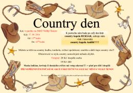 Country den - město Velký Šenov