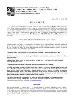 usnesen í - Exekutorský úřad Mělník